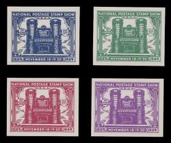 ASDA 1949i (1st) Stamp Show, 71st Regiment Armory, Imperforate (Set of 4)