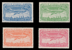ASDA 1950 (2nd) Stamp Show, Plane Over New York,  Perforated (Set of 4)