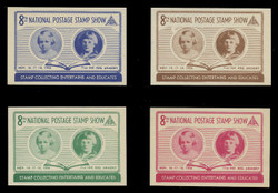 ASDA 1956 (8th) Stamp Show, Stamp Collecting,  Perforated (Set of 4)