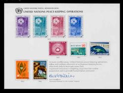 U.N. Souvenir Card #  8 - United Nations Peacekeeping Operations