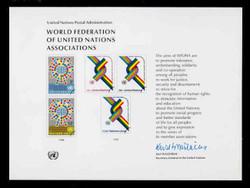 U.N. Souvenir Card #  9 - World Federation of U.N. Associations