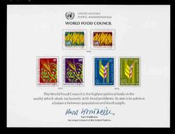 U.N. Souvenir Card # 10 - World Food Council