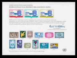 U.N. Souvenir Card # 11 - World International Property Organization
