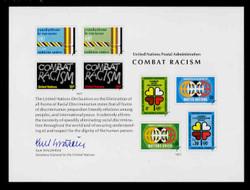 U.N. Souvenir Card # 12 - Combat Racism