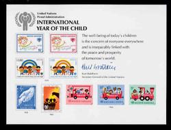 U.N. Souvenir Card # 15 - International Year of the Child