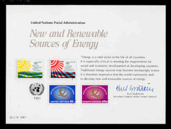 U.N. Souvenir Card # 20 - New and Renewable Sources of Energy