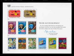 U.N. Souvenir Card # 24 - Trade and Development