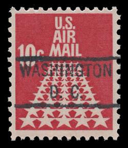 U.S. Scott # C  72, 1968 10c 50-Star Runway, Congressional Precancel