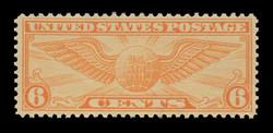 U.S. Scott # C  19, 1931 6c Winged Globe - Rotary Press, dull orange