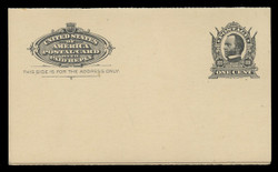 U.S. Scott # UY  4, 1904 1c Sherman/Sheridan - Mint Message-Reply Card - FOLDED