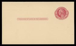 U.S. Scott # UY 13 Type 1, 1951 2c George/Martha Washington - Mint Message-Reply Card - FOLDED (See Warranty)