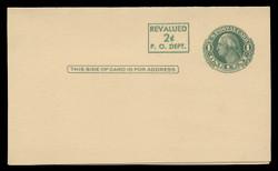 U.S. Scott # UY 15, 1952 2c on 1c Washington (Green) - Mint Message-Reply Card - FOLDED (See Warranty)