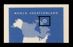 U.S. Scott # UY 19, 1963 7c Map of the United States - Mint International Message-Reply Card - FOREIGN MATTER ON PLATE