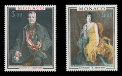 MONACO Scott #1302-3, 1981 Princes of Monaco, Paintings by P.A. de Laszlo (Set of 2)