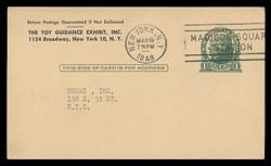 U.S. Scott # UX  27 /UPSS # S37EBUFF, 1914 1c Thomas Jefferson, green on buff - Used Postal Card