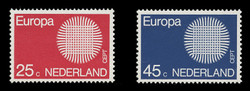 NETHERLANDS Scott # 483-4, 1970 Europa - Interwoven Threads (Set of 2)