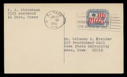 U.S. Scott # UX  52, 1965 4c Coast Guard, 175th Anniversary - Used Postal Card