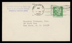 U.S. Scott # UX  55, 1968 5c Abraham Lincoln, Precancelled - Used Postal Card