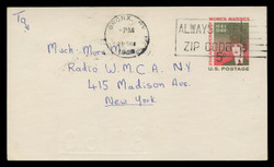 U.S. Scott # UX  56, 1968 5c Women Marines, 25th Anniversary - Used Postal Card