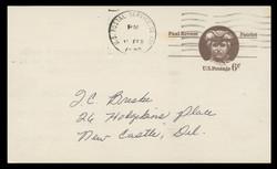 U.S. Scott # UX  58, 1971 6c Paul Revere - Patriot Series - Used Postal Card