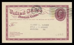 U.S. Scott # UX  65, 1973 6c Liberty Head - Centenary of the First U.S. Postal Card - Used Postal Card