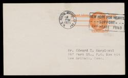 U.S. Scott # UX  66/UPSS #S83a, 1973 6c Samuel Adams - Patriot Series - Used Postal Card, DULL PAPER (See Warranty)