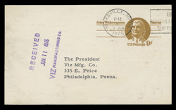 U.S. Scott # UX  69, 1975 9c John Witherspoon - Patriot Series - Used Postal Card