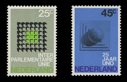 NETHERLANDS Scott # 485-6, 1970 Interparliamentary Union, U.N. 25th Anniv. (Set of 2)