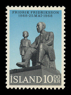 ICELAND Scott #  399, 1968 Fridrik Fridriksson, Founder of YMCA & Writer