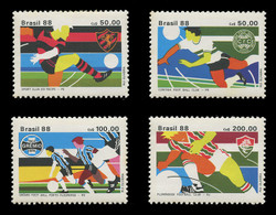 BRAZIL Scott # 2146-9, 1988 Brazilian Soccer Clubs (Set of 4)