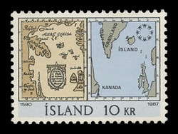 ICELAND Scott #  391, 1967 EXPO '67, Montreal - Maps