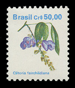 BRAZIL Scott # 2264, 1989 50cr Clitoria fairchildiana
