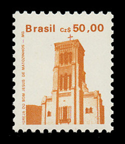 BRAZIL Scott # 2070, 1986 50cz Jesus of Matozinhos Church