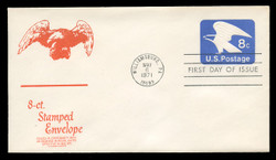 U.S. Scott #U557 8c Eagle Envelope First Day Cover.  Anderson cachet, RED variety.