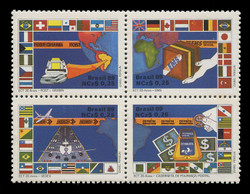 BRAZIL Scott # 2163, 1989 Post & Telegraph Enterprise (Block of 4)
