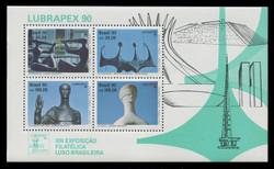 BRAZIL Scott # 2285b, 1990 LUBRAPEX .90 Souvenir Sheet