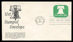 U.S. Scott #U567 10c Liberty Bell Envelope First Day Cover.  Anderson cachet, BLACK variety.