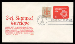 U.S. Scott #U577 2c Non-Profit Organization Envelope First Day Cover.  Anderson cachet, RED variety.