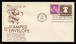 U.S. Scott #U547 1 1/4c Liberty Bell Envelope First Day Cover.  Anderson cachet, BROWN variety.
