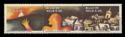 BRAZIL Scott # 2166, 1989 Rebellion Bicentennial (Strip of 3)