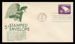 U.S. Scott #U550 5c Eagle Envelope First Day Cover.  Anderson cachet, GREEN variety.
