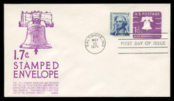 U.S. Scott #U556 1.7c Liberty Bell Envelope First Day Cover.  Anderson cachet, PURPLE variety.