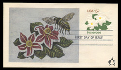U.S. Scott #U599 15c Honeybee Envelope First Day Cover.  Andrews cachet.