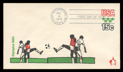 U.S. Scott #U596 15c 1980 Olympics Envelope First Day Cover.  Andrews cachet.