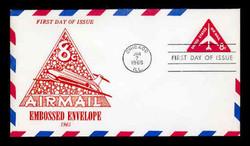 U.S. Scott #UC37 8c Jet Envelope First Day Cover.  Centennial cachet.