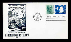 U.S. Scott #U549 4c Old Ironsides Envelope First Day Cover.  Centennial cachet.