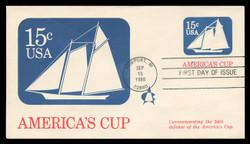 U.S. Scott #U598 15c America's Cup Envelope First Day Cover.  Andrews cachet.