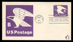 "U.S. Scott #U592 (18c) ""B"" Eagle Envelope First Day Cover.  Andrews cachet."