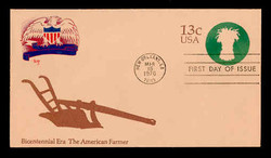 U.S. Scott #U573 13c Bicentennial - American Farmer Envelope First Day Cover.  MARG cachet.