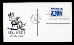 U.S. Scott #UX51 4c Social Security Postal Card First Day Cover.  Centennial cachet.